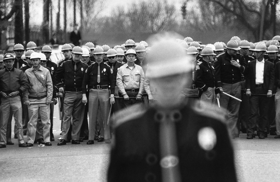 The police line during Dr. King's march in Selma, Alabama 1965